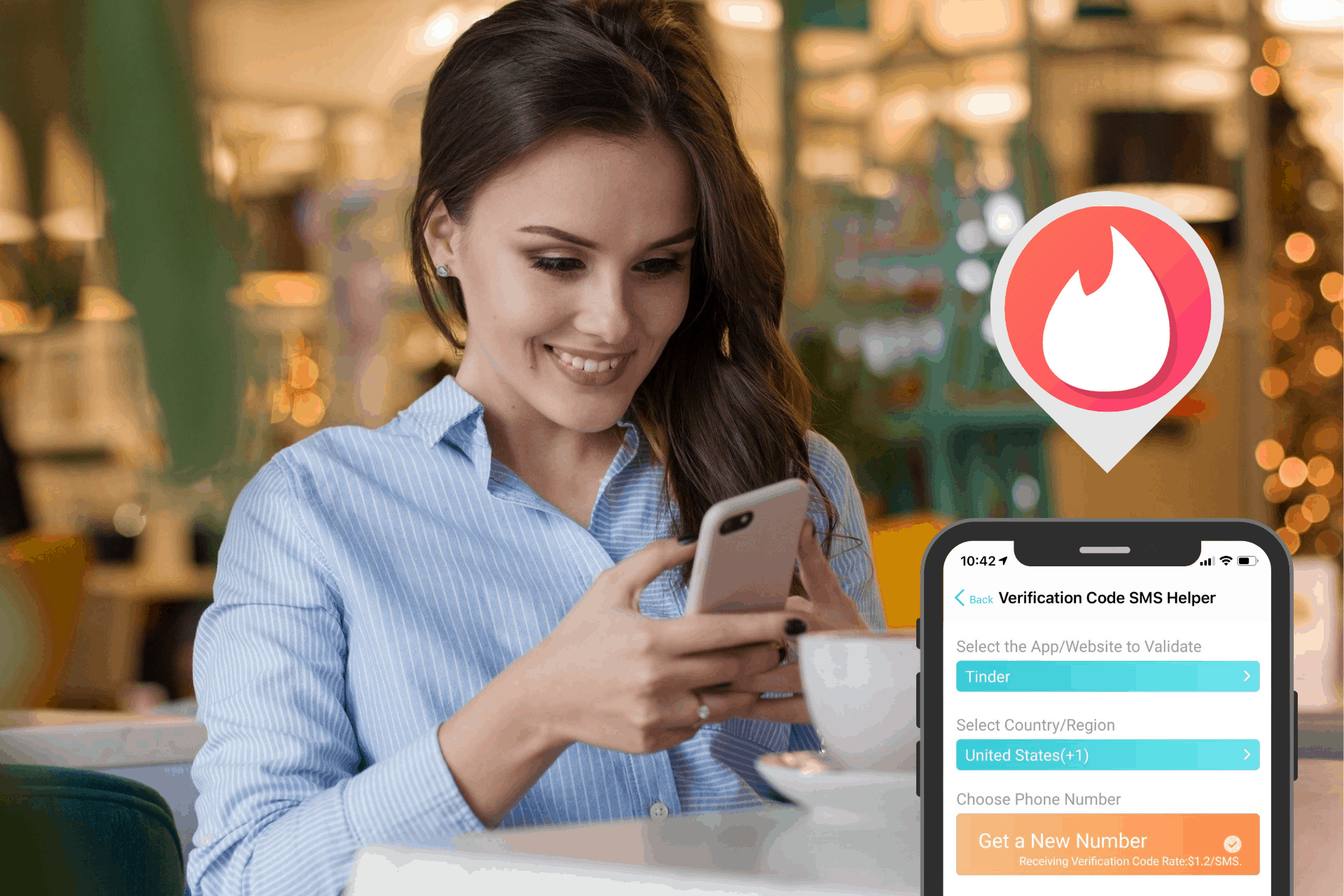 Tinder login with code