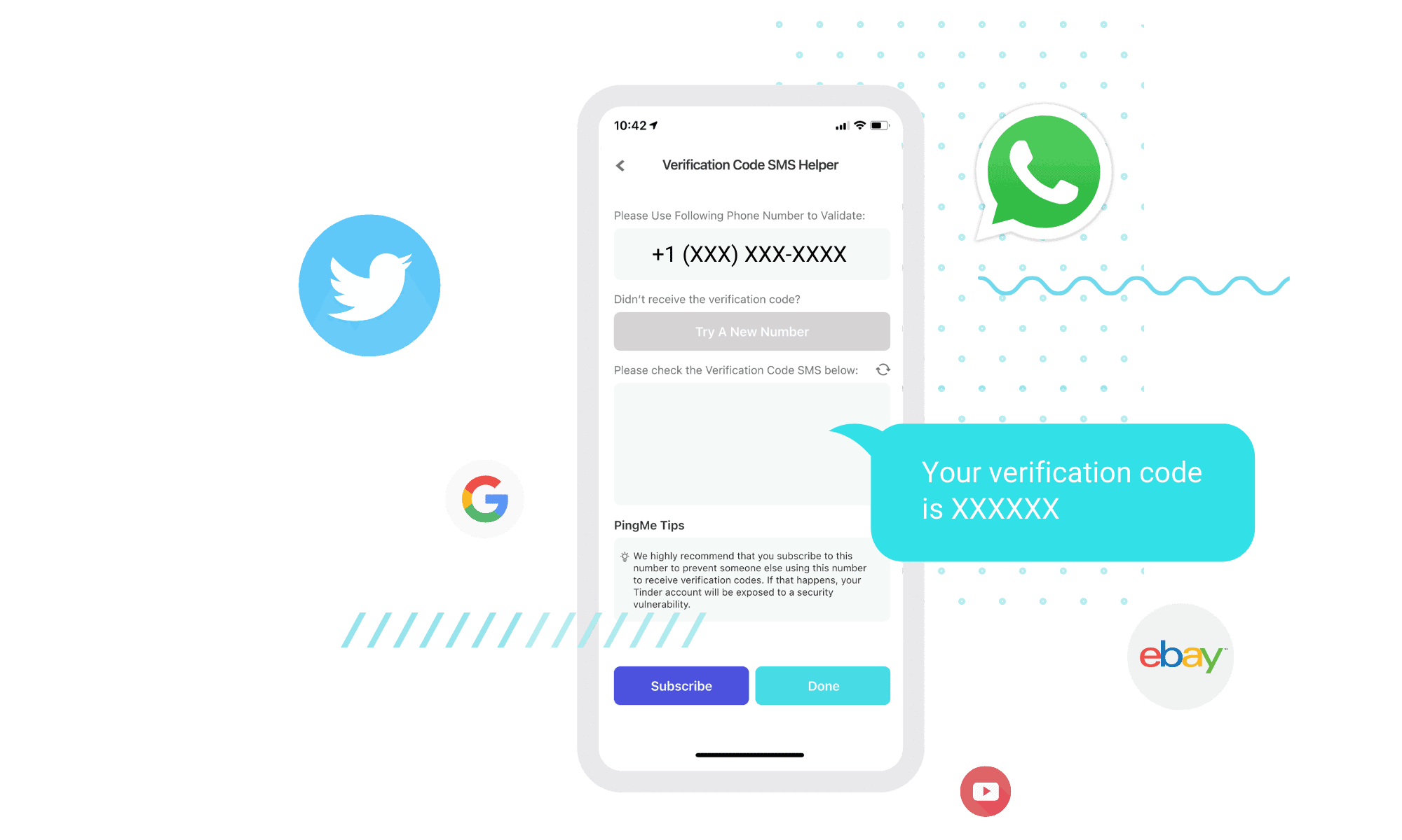 mobile app received verification code sms