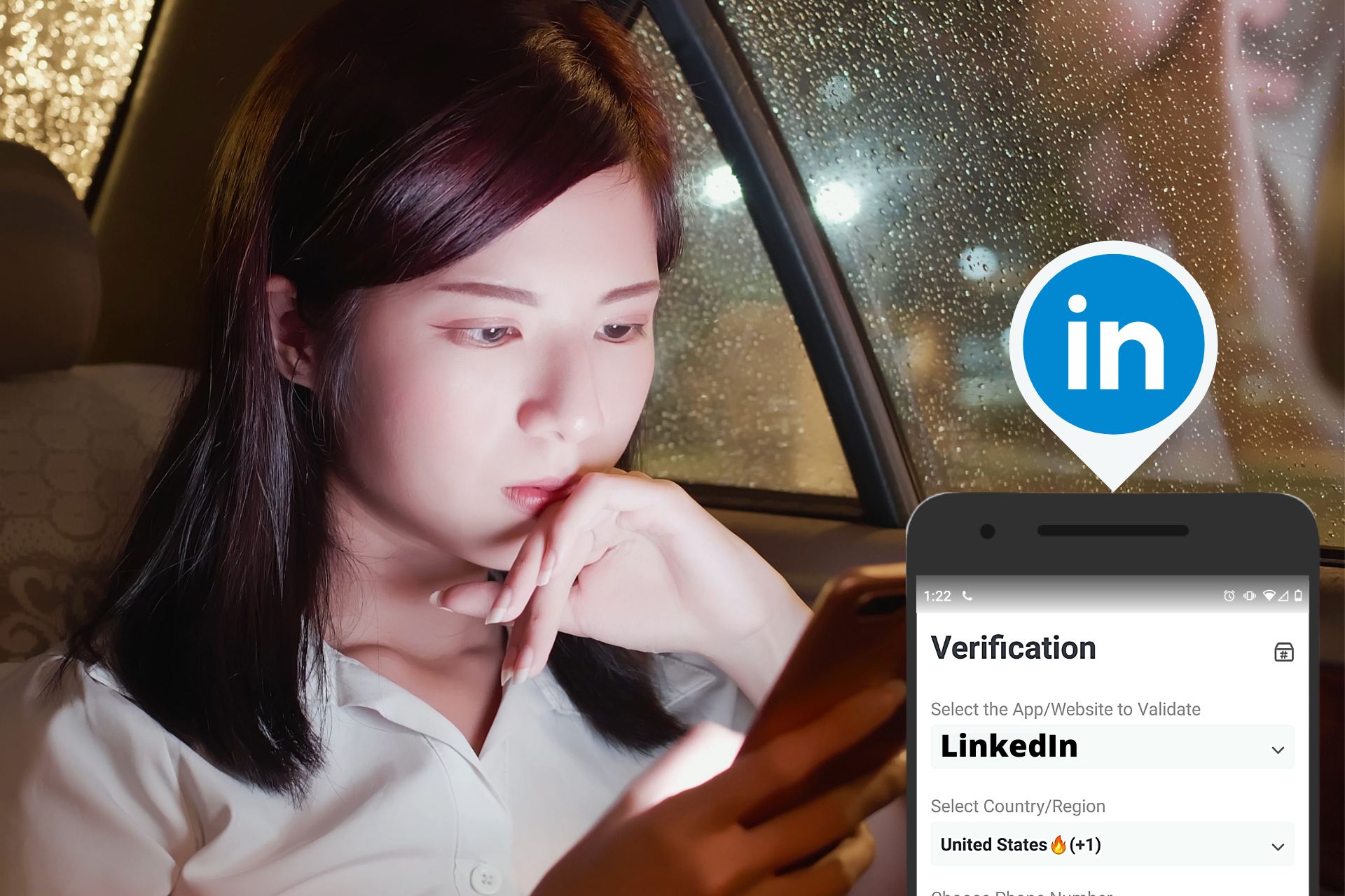 LinkedIn SMS Verification header