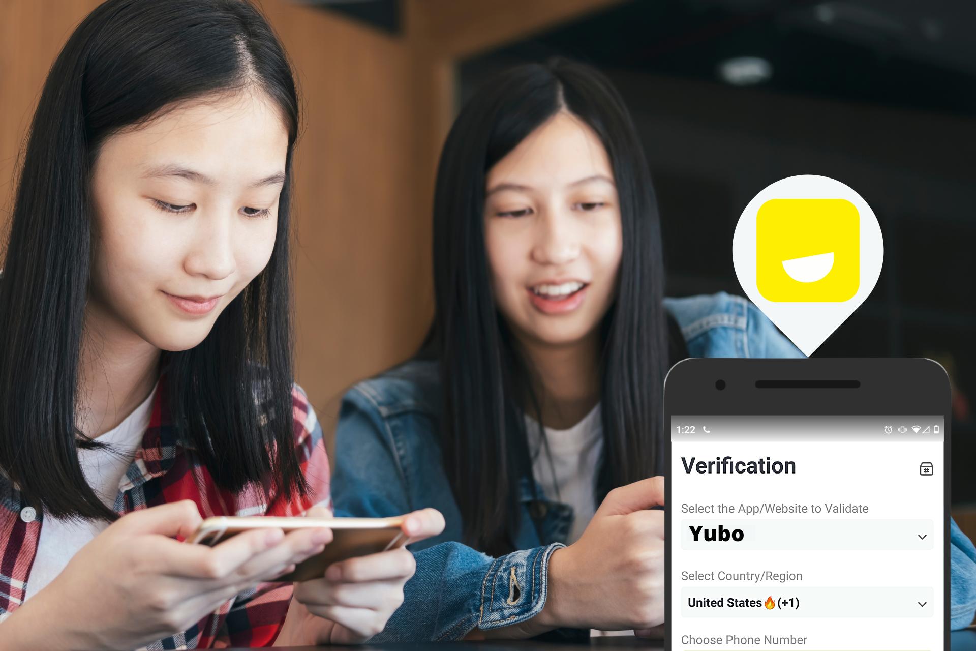 Bypassing SMS verification Yubo