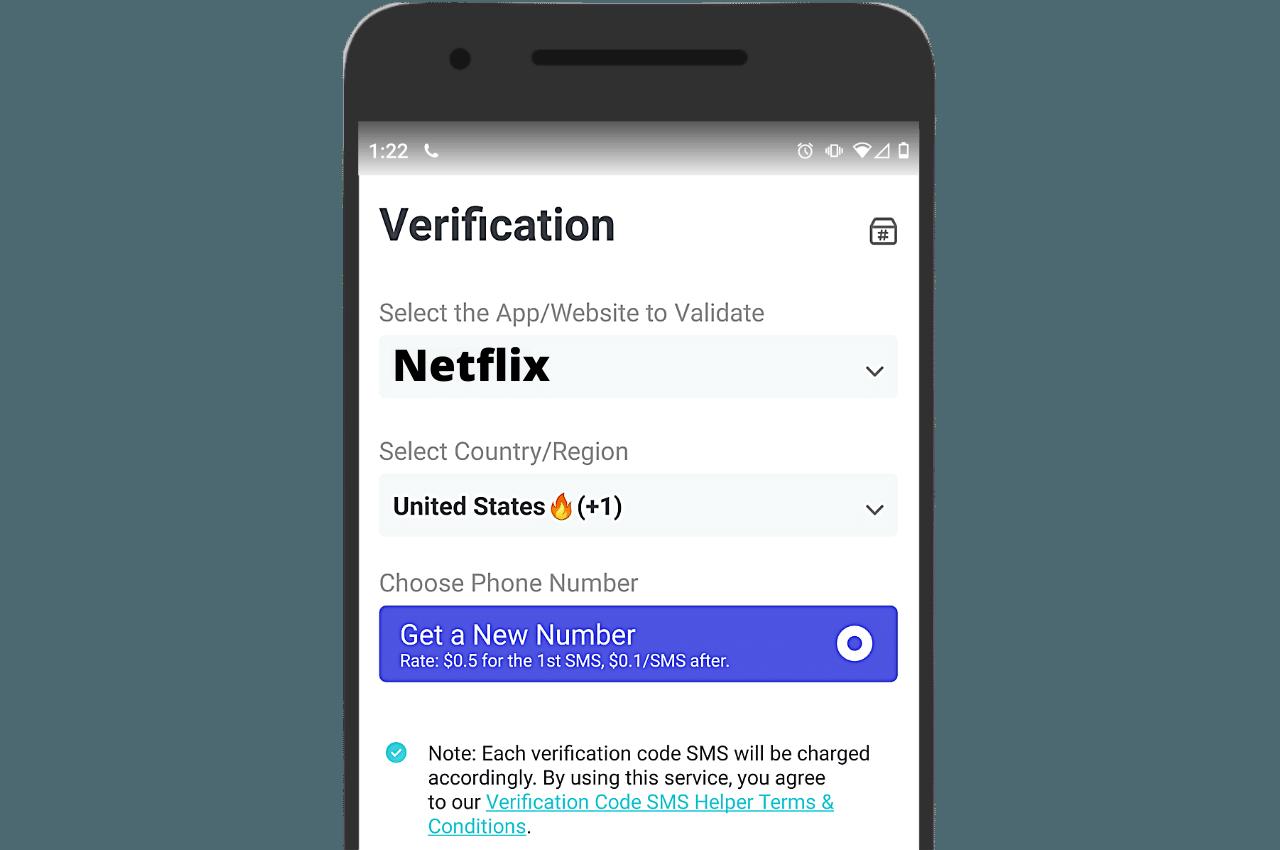 Netflix SMS Verification PingMe