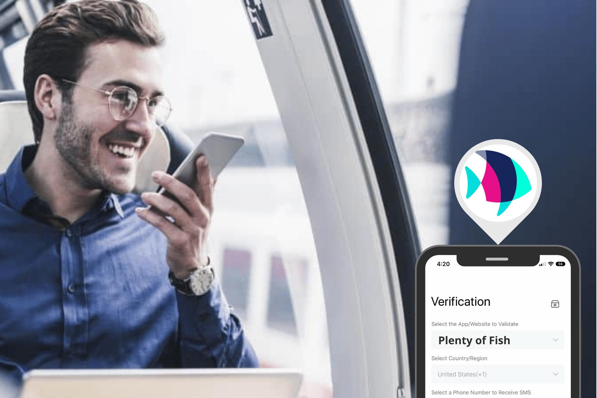Grindr SMS Verification header