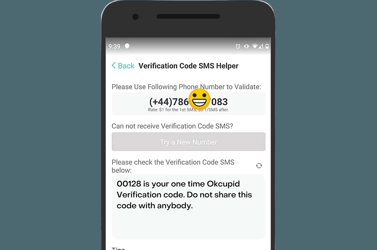 PingMe verification helper Okcupid SMS