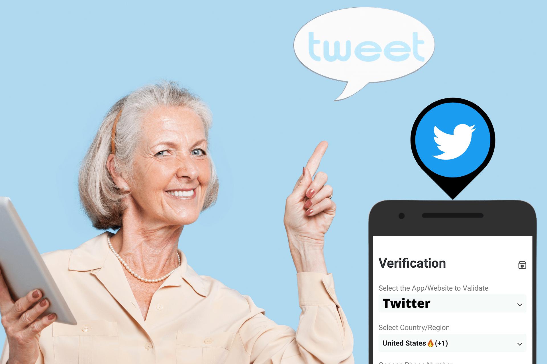 Twitter SMS Verification header