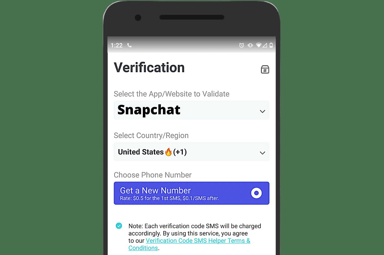 Snapchat PingMe verification helper SMS